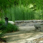 The memorial space provides a serene space for visitors.