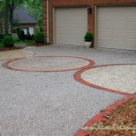Driveway, pavers, circle detail, and border