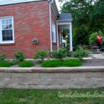 """The Mesa retaining wall is """"the best part of the design"""" according to the homeowner, because it makes mowing alot easier."""