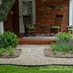 """The first door to the """"side-front"""" porch has a small circular detail and widens near the porch."""