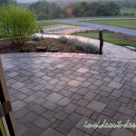 The view from the front door, Belgard Urbana pavers have a great texture and nice size.