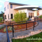 The curved Weston wall and ramp make this project one of a kind.